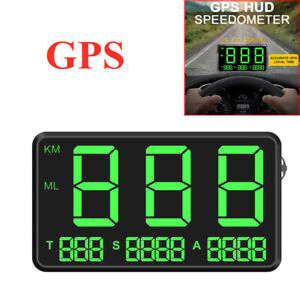 "4.5"" Car C80 Screen LED Speed Digital GPS Speedometer HUD Head-up-Display Alarm"