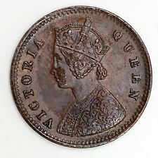 VICTORIA - 1862 1/12 ONE TWELFTH ANNA - GEF - LOVELY CONDITION INDIA COIN