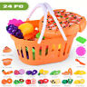 Kids Pretend Role Play Kitchen Fruit Vegetable Food Toy Cutting Set Toy Reusable