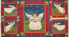 "Christmas in Your Heart Angels Cotton Fabric Panels 23""   #76204"