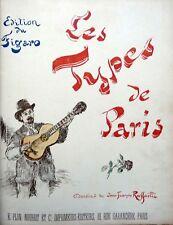 Rare LES TYPES DE PARIS Recueil relié des 10 livraisons 1889 Illustr.  Raffaëlli