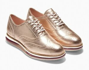 Cole Haan OriginalGrand Energy Twin Oxford - Rose Gold, Size 7.5 M US [W21306]
