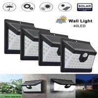 40 LED Solar Powered PIR Motion Sensor Wall Security Lights Garden Outdoor Light