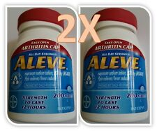 ALEVE Naproxen Sodium NSAID 220 mg Pain Fever Relief 200 Tablets Easy Open Cap