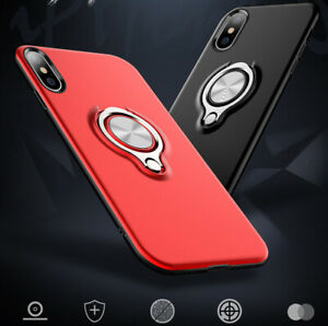 For iPhone X XS Max Stand Soft Shockproof Bumper Silicone Cover Case i10