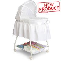 Baby Bassinet W/ Storage Infant Nursery Crib Basket Sleeper Bed Cradle White NEW