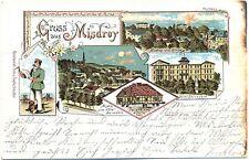 Misdroy, Farb-Litho mit Hotel Belvedere, 1900