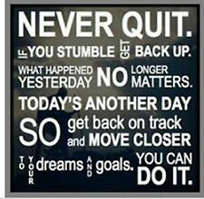 NEVER QUIT YOU STUMBLE GET BACK UP ETC JUMBO COASTER MOTHERS DAY BIRTHDAY NEW