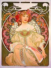 Beautiful Woman #5 Vintage French Nouveau France Poster Mucha Art Advertisement