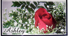 CHECKBOOK COVER RED ROSE