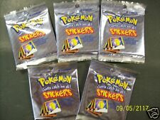 5 Packs Pokemon Booster 10 Stickers per pack Trading Cards Artbox Gold Foil