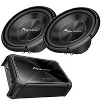 """2x Pioneer TS-A300D4 12"""" Inch 30cm 1500 WATTS Plus GM-D9701 Amplifier Mono Block"""