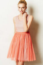 Tahitian Dusk Dress Coral Pink Tulle Ballerina Greylin Anthropologie, Size M