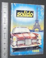 CATALOGUE SOLIDO 1988 DIE-CAST METAL 1/18 1/43 MILITAIRES TONER GAM HELICO