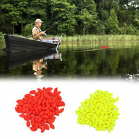 100Pcs 12mm Oval Hard Rig Beads Sea Fishing Lure Floating Float Tackles Plastic