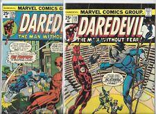 Daredevil #118 & #126   Lot of 2  (1975, Marvel Comics)