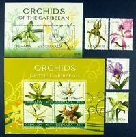 Grenada 2010 Orchideen Orchids Blumen Flowers 6203-10 + Block 782 Postfrisch MNH