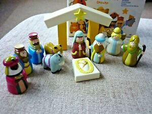 Avon Nativity Set - Children's Christmas Nativity Set - 11 Pieces