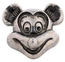 Silver Mickey Mouse 20mm Snap Charm for Ginger Snaps Interchangeable Jewelry