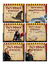 Harry Potter Valentines for Classroom School Valentines Day Cards
