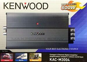 NEW KENWOOD KAC-M3004 Class-D 4-Channel Compact Digital Car/ATV/Marine Amplifier