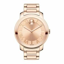 Movado Women's Bold Stainless Steel Bracelet Rose Gold Watch 3600199