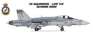 1/72 RAAF DECALS; F/A-18A Hornet 75 SQN Low Viz early 2000s