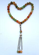 Natural Beautiful Agate 33 Prayer Bead Rosary bead Islamic Muslim Tasbih Misbaha