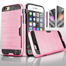 iPhone 6 6S Plus Card Case Side Pocket ShockProof Slim Hard Matte Wallet Cover