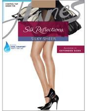 12 Pairs Silk Reflections Silky Sheer Control Top Sheer Toe