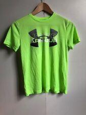 Under Armour Kids UA Tech Big Logo Hybrid T-Shirt - YMD (9-10) - Bright Green