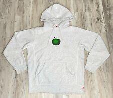 Supreme Apple Hooded Sweatshirt SS19 Ash Grey Size Small
