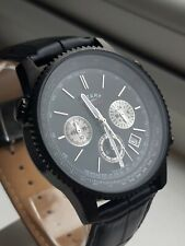 Rotary Chronospeed GS03778 chronograph with new black leather strap (54-8)