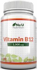 Vitamine B12 1000μg - Puissance Élevée de B12 Méthylcobalamine - 180 Comprimé...