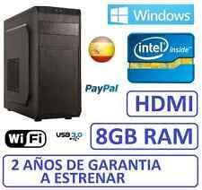 PC Ordenador Sobremesa intel 8gb ram, usb 3.0 ,wifi, windows, HDMI WINDOWS
