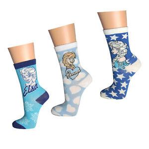 3 - 6 Paar Frozen Socken Mädchen Kinder Strümpfe Anna Elsa Eiskönigin