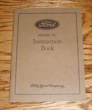 1929 Ford Model A Owners Operators Manual 29 Instruction Book