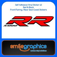 BMW S1000RR Fairing Decals Black Red Stickers later model