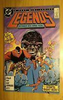 Legends #1 DC 1st App. of Amanda Waller Mask Insert 9.8+ MINT! Suicide Squad