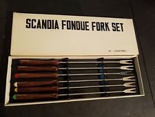 Vintage NEW IN BOX Scandia Shafford Fondue Set 7n9 MADE IN JAPAN