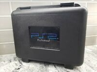 PlayStation 2 PS2 Blockbuster Travel Case Hard Plastic 2003 Rare With Foam