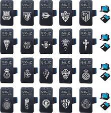 Alcatel Pixi 4 6.0 3G, Flip cover Funda tapa negro escudo futbol,elige tu equipo