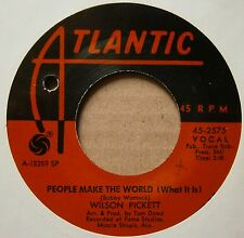 "7"" Wilson Pickett A Man And A Half People Make The World Us Atlantic"