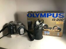 Olympus is200 35mm film Camera with super tele kit IS/L C180 Lense