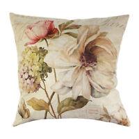 Vintage Blumen / Blumenflachs Dekoration Gehaeuse von Kissen Kissenbezug Haus OE