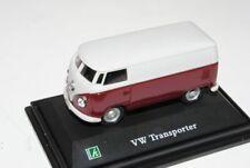 VW Volkswagen T1 Transporter Kasten Rot Weiss 1/72 Cararama Modell Auto mit oder
