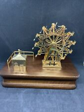Vtg Disney Solid Brass Gold Plated Ferris Wheel Music Box It's A Small World