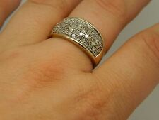 1 Carat Diamond 9ct Yellow Gold Ring Size T 9k fully hallmarked and stamped 100