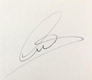 LEWIS HAMILTON AUTHENTIC SIGNED INDEX CARD F1 AFTAL#198