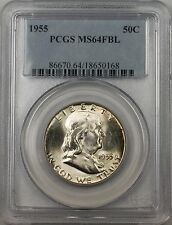 1955 Franklin Silver Half Dollar 50c Coin PCGS MS 64 FBL Better Coin (BR-30 M)